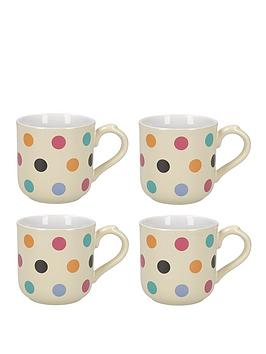 Very Set Of 4 Ivory Spot Mugs Picture