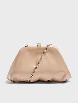 topshop-patent-mini-frame-clutch-bag-camel
