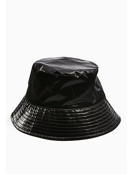 topshop-lightweight-vinyl-bucket-hat-black