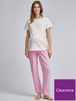 dorothy-perkins-maternity-todayrsquos-the-day-slogan-set-pink