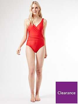 dorothy-perkins-body-sculpt-wrap-swimsuit-red