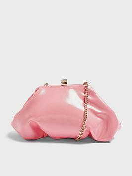 Topshop Topshop Patent Mini Frame Clutch Bag - Pink Picture