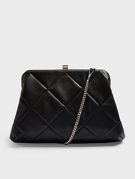 Topshop Topshop Frame Quilt Clutch Bag - Black Picture