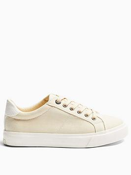 Topshop Topshop Camden Lace Up Trainers - Taupe Picture
