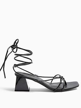 Topshop Topshop Nikita Strap Sandals - Black Picture