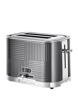 Russell Hobbs Russell Hobbs Geo 2-Slice Toaster - Textured Metal Picture