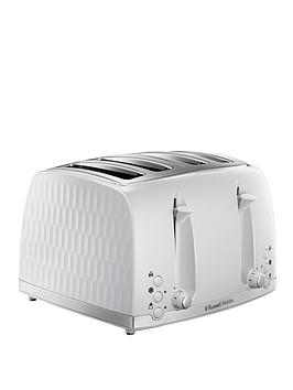 Russell Hobbs Russell Hobbs Honeycomb 4-Slice Toaster - White Picture