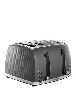 Russell Hobbs Russell Hobbs Honeycomb 4-Slice Toaster - Grey Picture