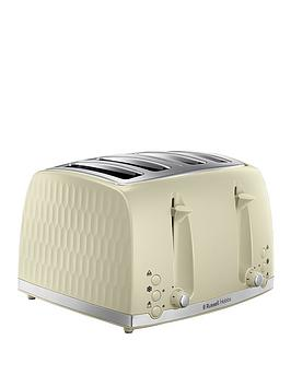 Russell Hobbs Russell Hobbs Honeycomb 4-Slice Toaster - Cream Picture
