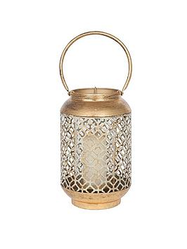 Pacific Lifestyle Pacific Lifestyle Antique Gold Metal & Glass Round  ... Picture