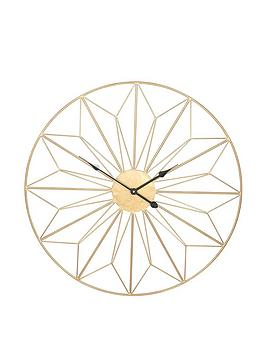 Pacific Lifestyle Pacific Lifestyle Champagne Gold Metal Wall Clock Picture
