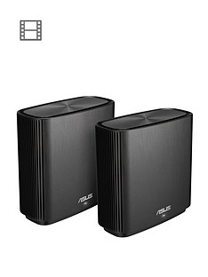 asus-asus-zenwifi-ct8-2-pack-ac3000-whole-home-wifi-tri-band-mesh-system-black
