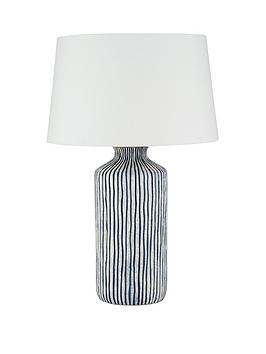 Pacific Lifestyle Pacific Lifestyle Mykonos Stripe Table Lamp Picture