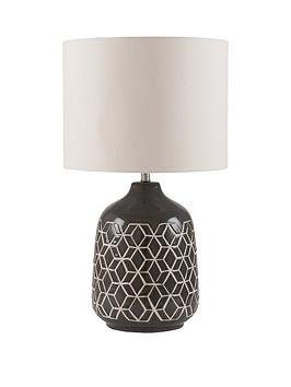 Pacific Lifestyle Stratford Geo Ceramic Table Lamp