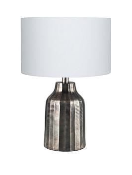 Pacific Lifestyle Pacific Lifestyle Greta Antique Textured Metal Table Lamp Picture