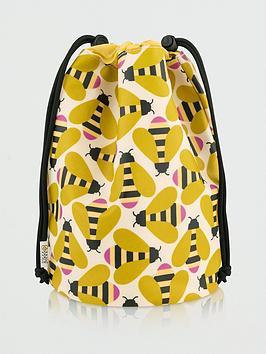 Orla Kiely Orla Kiely Busy Bee Barrel Wash Bag Picture