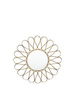 Pacific Lifestyle Pacific Lifestyle Antique Gold Metal Petal Round Wall  ... Picture