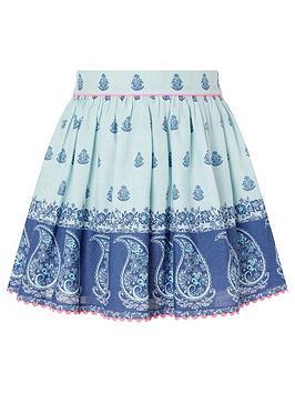 Monsoon Monsoon Girls S.E.W. Dannika Print Skirt - Blue Picture