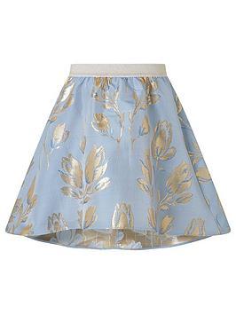 Monsoon Monsoon Girls Tulip Jacquard Skirt - Blue Picture