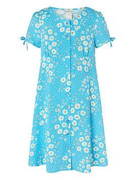 Monsoon Monsoon Girls Daisy Spot Dress - Blue Picture