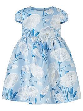 Monsoon Monsoon Baby Girls Naya Jacquard Dress - Blue Picture