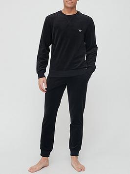 emporio-armani-bodywear-velour-lounge-set-black