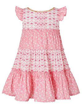 Monsoon Monsoon S.E.W. Baby Girls Elsa Print Dress - Pink Picture