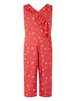 Monsoon Monsoon Girls S.E.W. Grace Ruffle Jumpsuit - Red Picture