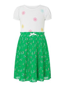Monsoon Monsoon Girls S.E.W Grace Top And Skirt Set - Green Picture