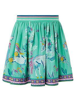 Monsoon Monsoon Girls S.E.W. Alexa Unicorn Skirt - Aqua Picture