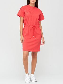 hugo-nomelia-logo-dress-red