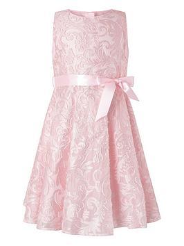 Monsoon Monsoon Girls Cordelia Glitter Jacquard Dress - Pink Picture