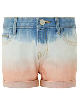 Monsoon Monsoon Girls Darlene Denim Tie Dye Short - Blue Picture