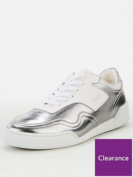 boss-jodie-low-cut-trainer-silver