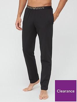 emporio-armani-bodywear-gold-logo-lounge-pants-black