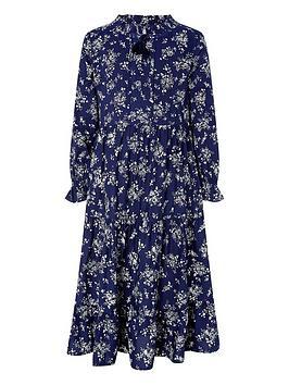 Monsoon Monsoon Girls S.E.W. Rose Rosetta Dress - Navy Picture