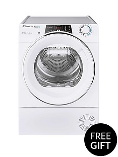 candy-rapido-roh10a2tce-10kg-load-heat-pump-tumble-dryer-white-chrome