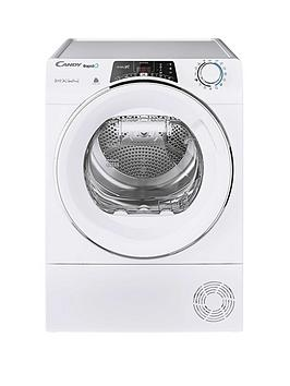 Candy   Rapido Roh10A2Tce, 10Kg Load, Heat Pump Tumble Dryer - White / Chrome