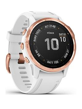 Garmin Garmin Fenix 6S Pro - Rose Gold With White Band Picture