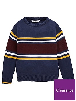 v-by-very-boys-colour-block-stripe-knitted-jumper-navy