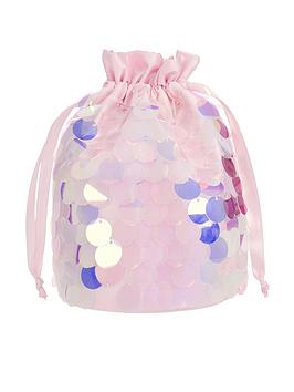 Monsoon Monsoon Girls Mermaid Sequin Pouch Bag - Pink Picture