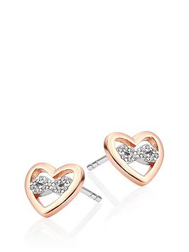Beaverbrooks Beaverbrooks Silver Rose Gold Plated Cubic Zirconia Infinity  ... Picture