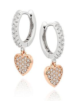 Beaverbrooks Beaverbrooks Silver Rose Gold Plated Cubic Zirconia Heart  ... Picture