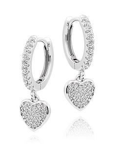 beaverbrooks-silver-cubic-zirconia-heart-charm-hoop-earrings