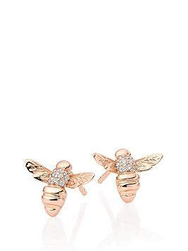 Beaverbrooks Beaverbrooks Rose Gold Plated Silver Cubic Zirconia Bee  ... Picture