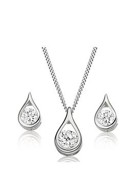 beaverbrooks-9ct-white-gold-cubic-zirconia-pear-shaped-pendant-and-earrings-set