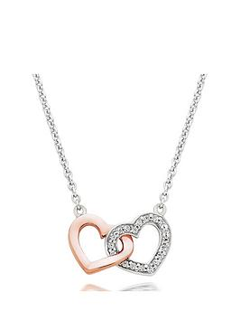 Beaverbrooks Beaverbrooks Silver And Rose Gold Plated Cubic Zirconia  ... Picture