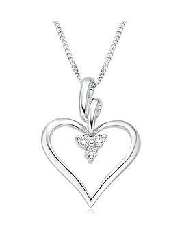 Beaverbrooks Beaverbrooks 9Ct White Gold Diamond Heart Pendant Picture