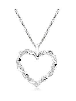 Beaverbrooks Beaverbrooks Entwine 9Ct White Gold Diamond Heart Pendant Picture