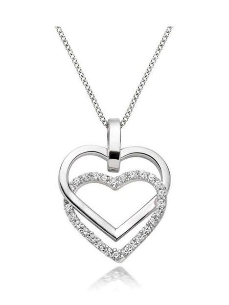beaverbrooks-9ct-white-gold-cubic-zirconia-double-heart-pendant